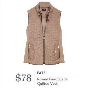 Fate Faux Suede Quilted Vest Stitch Fix